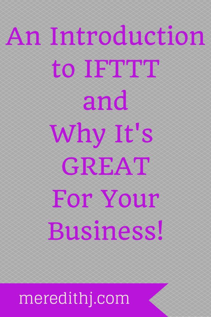 IFTTT Intro